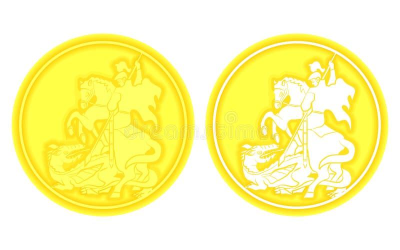 Medalla de San Jorge stock de ilustración