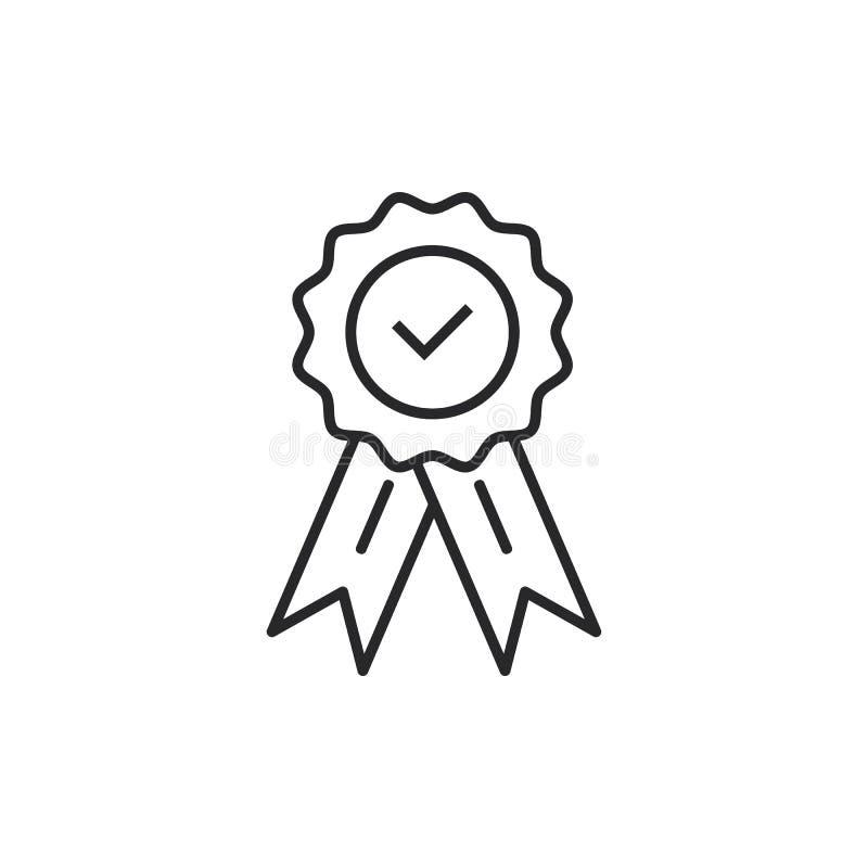 Medalla del certificat de la garantía con aprobado para el vector eps10 de la tienda de la web Icono aprobado de la medalla libre illustration