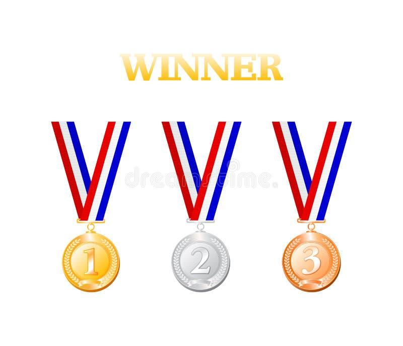Medalla del ganador stock de ilustración