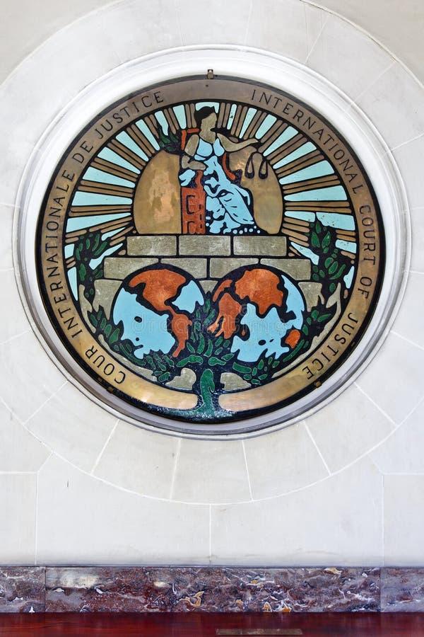 Medalla del ICJ imagen de archivo libre de regalías