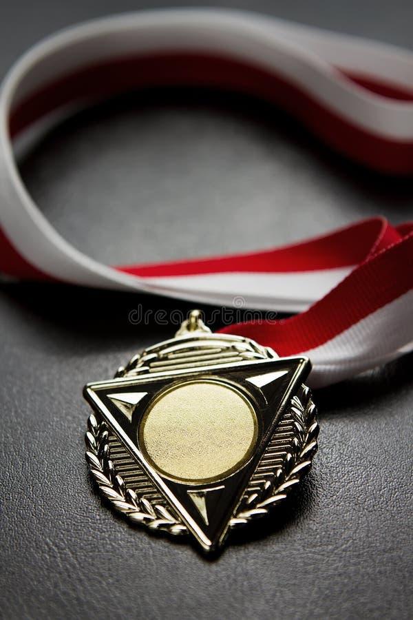 Medalla en blanco fotografía de archivo