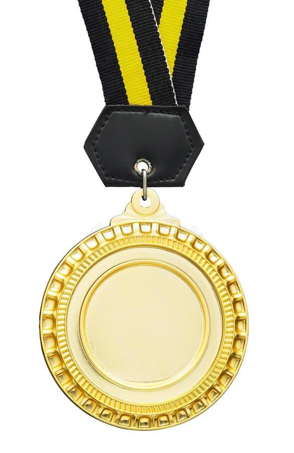 Medalla en blanco imagen de archivo libre de regalías