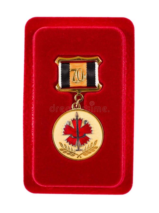 Medalla especial rusa fotografía de archivo libre de regalías