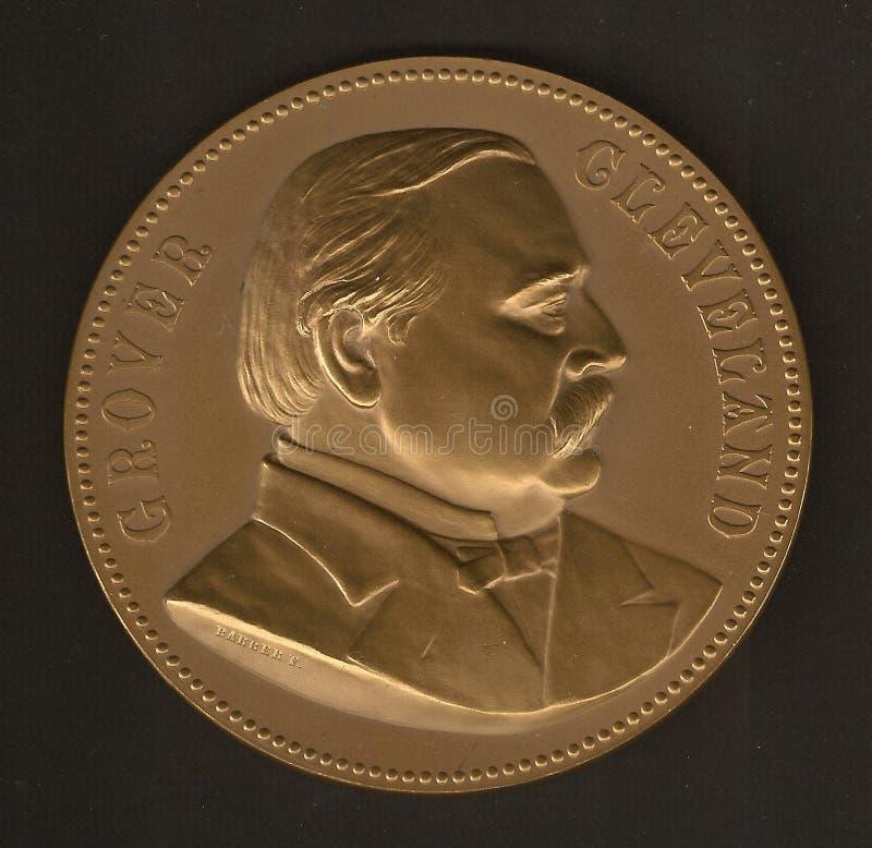Medalla inaugural de Grover Cleveland imagenes de archivo