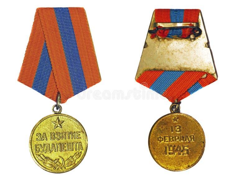 Medalla para la captura de Budapest fotografía de archivo