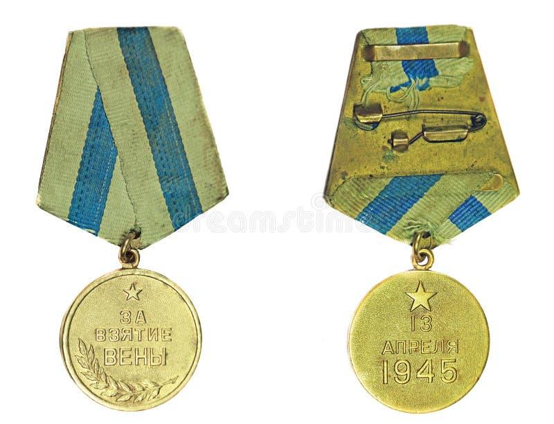 Medalla para la captura de Viena fotos de archivo libres de regalías