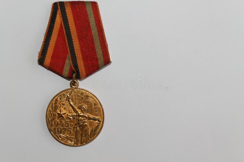 Medalla soviética por 30 años de la Guerra Mundial de la victoria Segunda imagenes de archivo