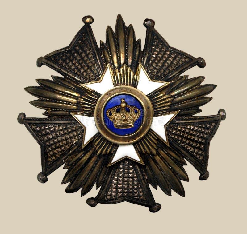 Medalla vieja foto de archivo