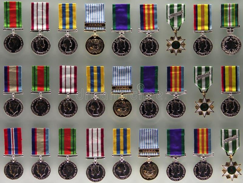 Medallas australianas de la guerra imagen de archivo