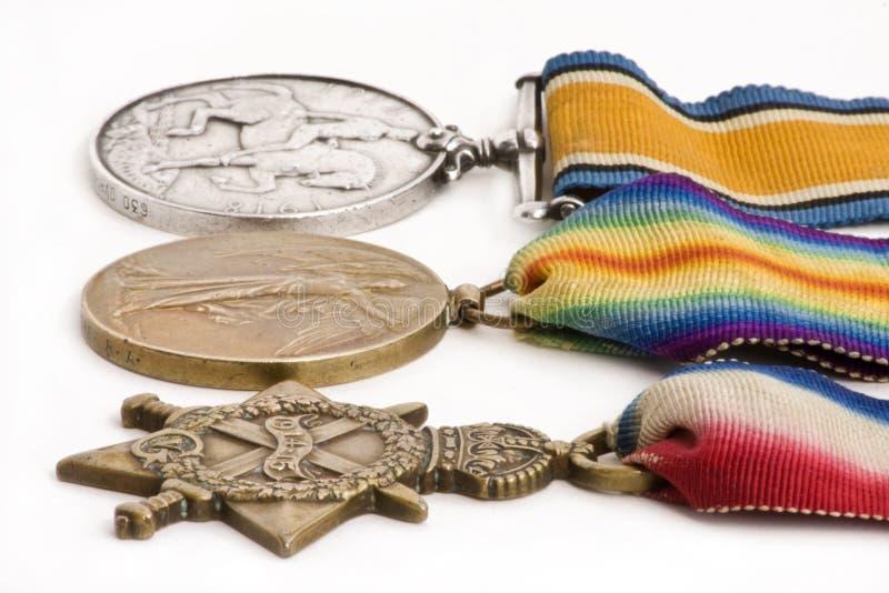 Medallas británicas de la guerra imagen de archivo