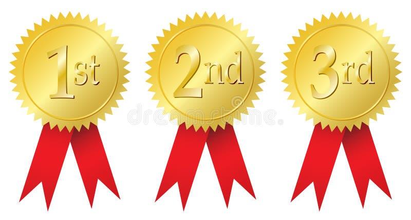 Medallas de la concesión stock de ilustración