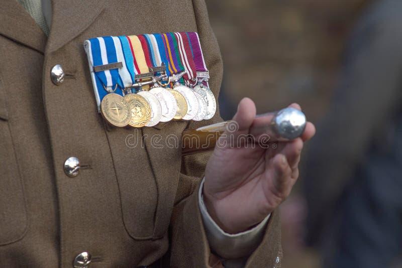 Medallas de la guerra imagen de archivo