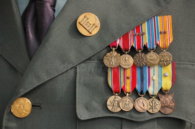 Medallas de la Segunda Guerra Mundial fotos de archivo libres de regalías