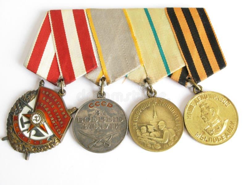Medallas II de la guerra mundial imagenes de archivo