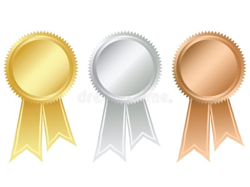 Medallas premiadas stock de ilustración