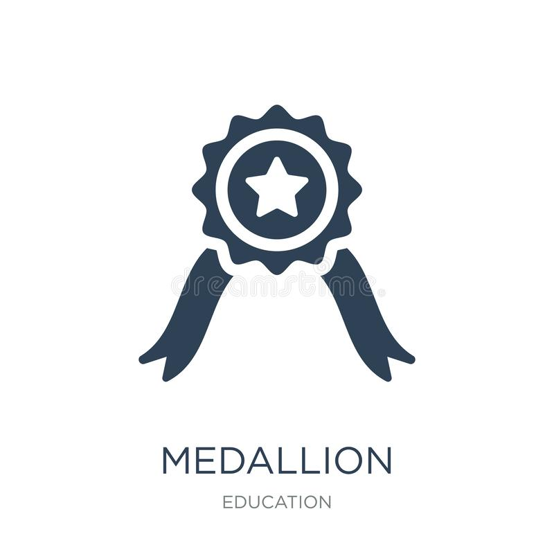 medallion icon in trendy design style. medallion icon isolated on white background. medallion vector icon simple and modern flat vector illustration