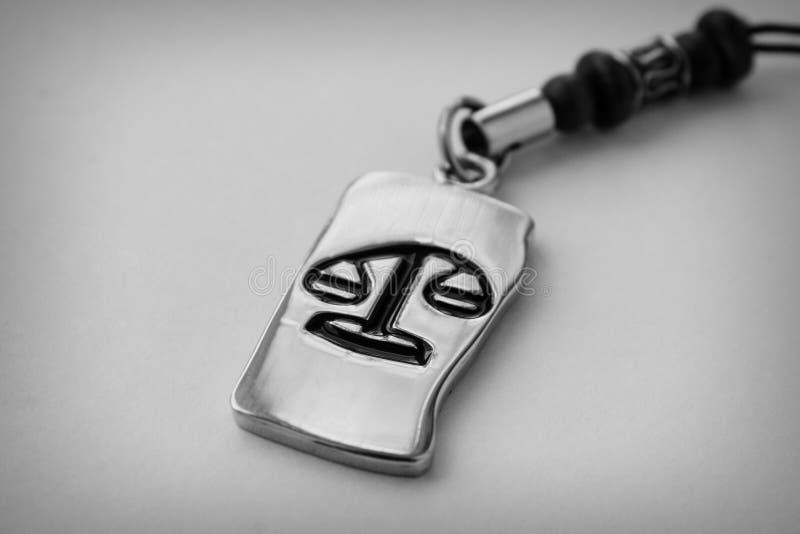Medallion Libra zodiac sign stock images