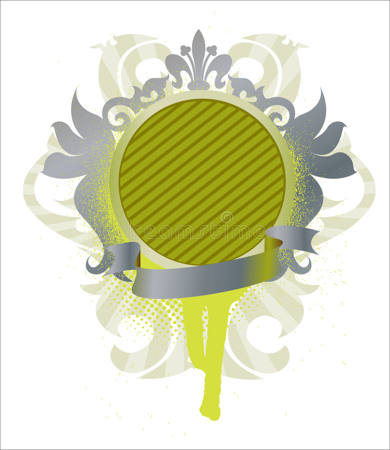 medallion with ribbon vector illustration