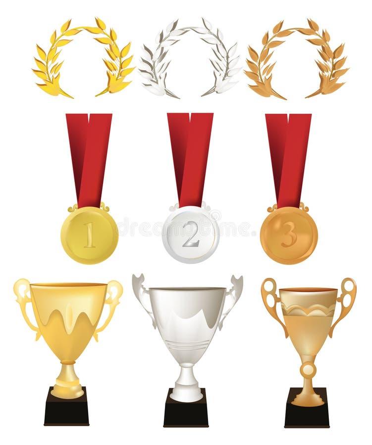 Download Medals stock vector. Image of illustration, vector, bronze - 12426863