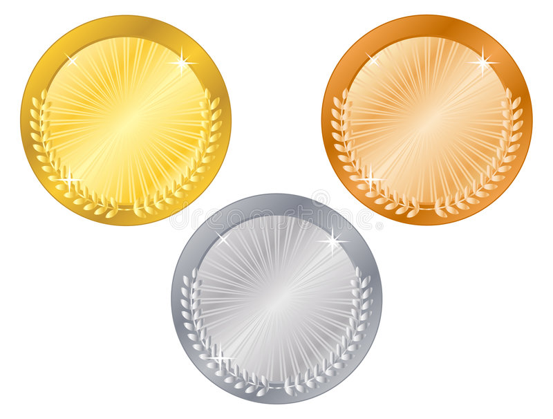 Medals-5. Gold, silver and bronze medals