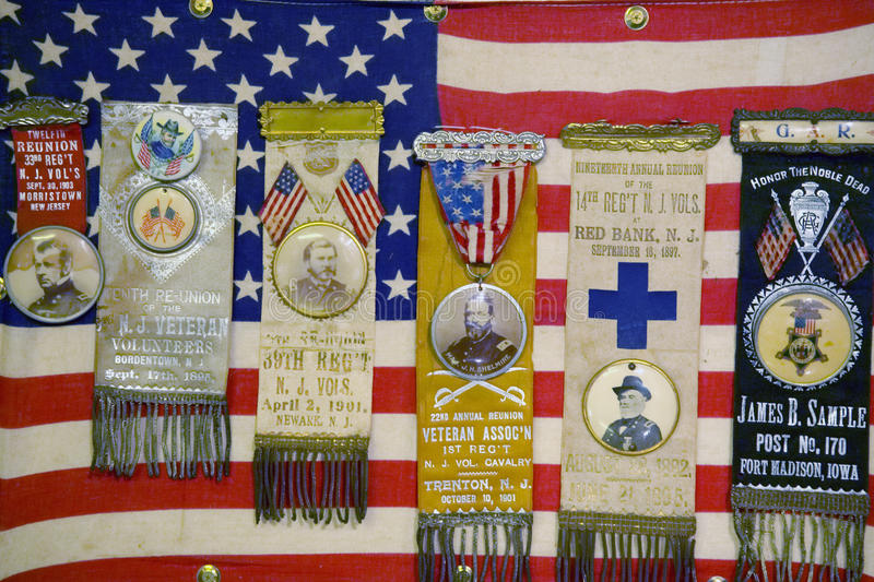 Medals of Honor,. Drummer Boy Museum in historic Andersonville Georgia stock photo