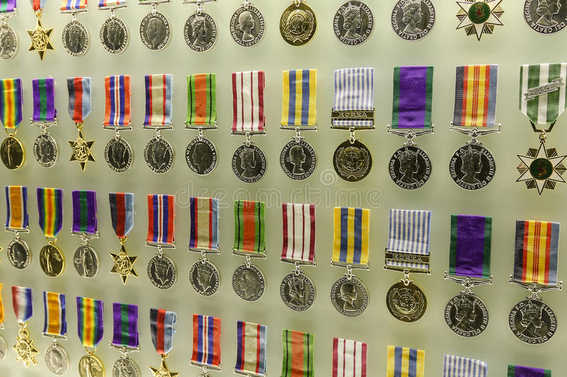 Medals of Honour at Shrine of Remembrance stock images
