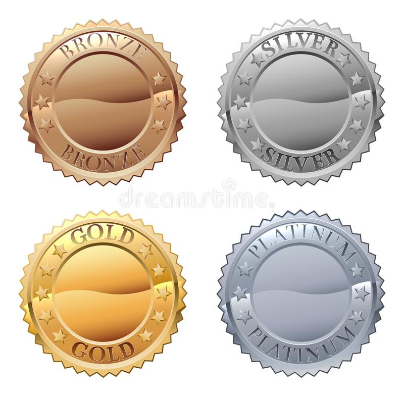 Free Medals Icon Set Stock Photos - 122605873