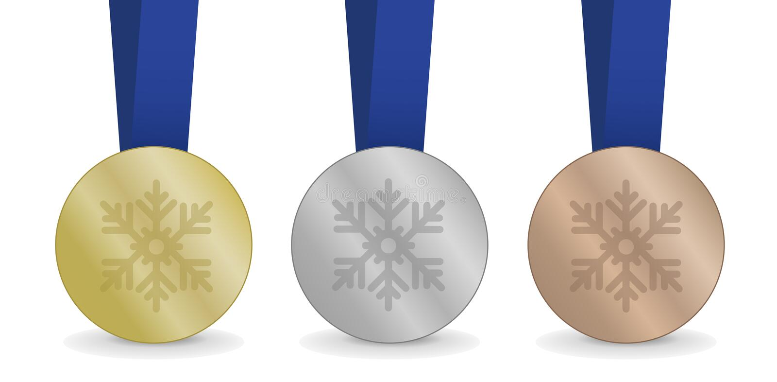 Medals for Winter Games royalty free stock images