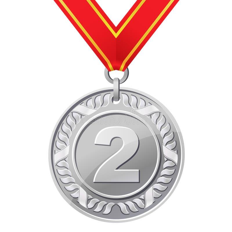medalu srebro ilustracji