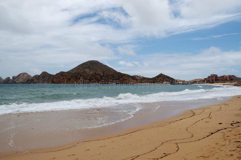 Medano海滩Cabo圣卢卡斯 免版税库存图片