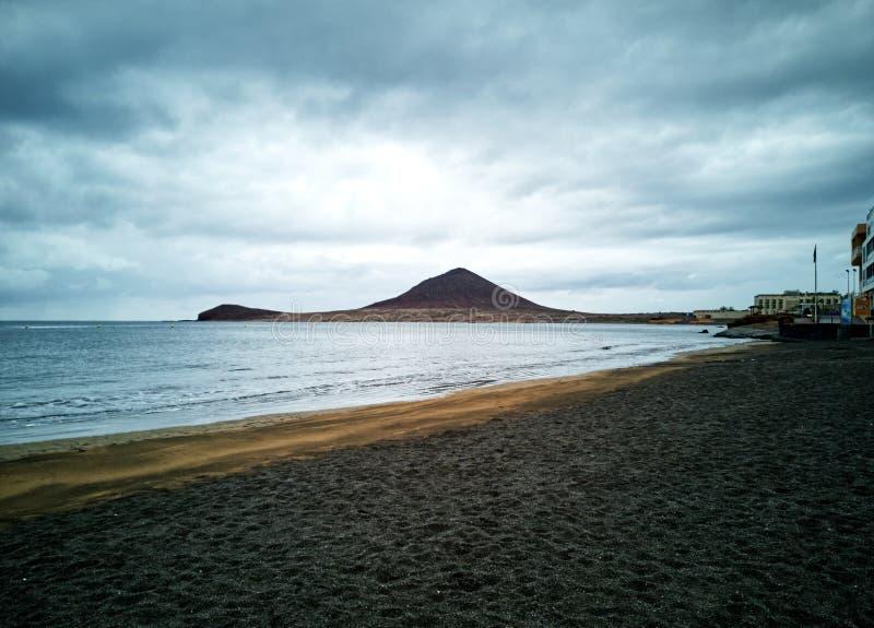 Medano plaża przy świtem fotografia royalty free