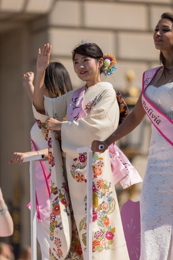 Medborgare Cherry Blossom Parade 2018 royaltyfria foton