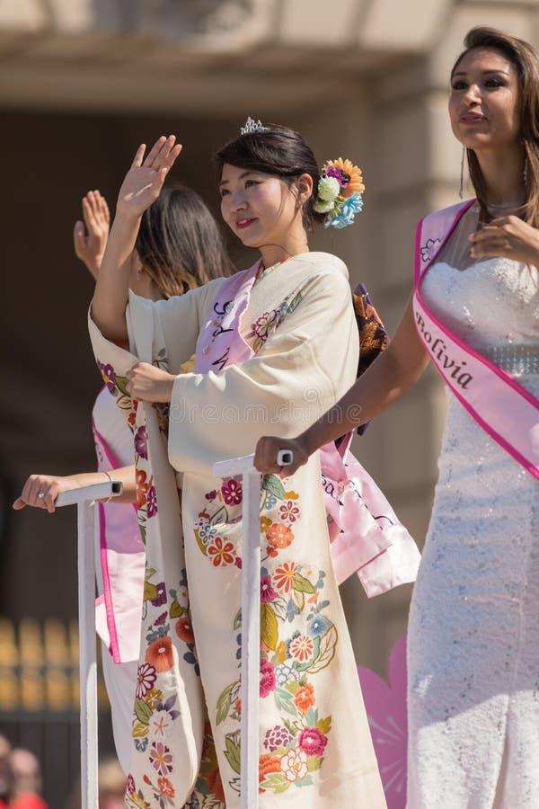 Medborgare Cherry Blossom Parade 2018 royaltyfri fotografi