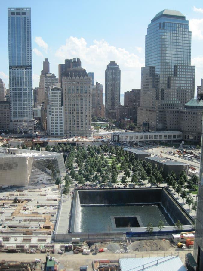 Medborgare September 11 som är minnes- & museum på World Trade Centerplatsen royaltyfri bild