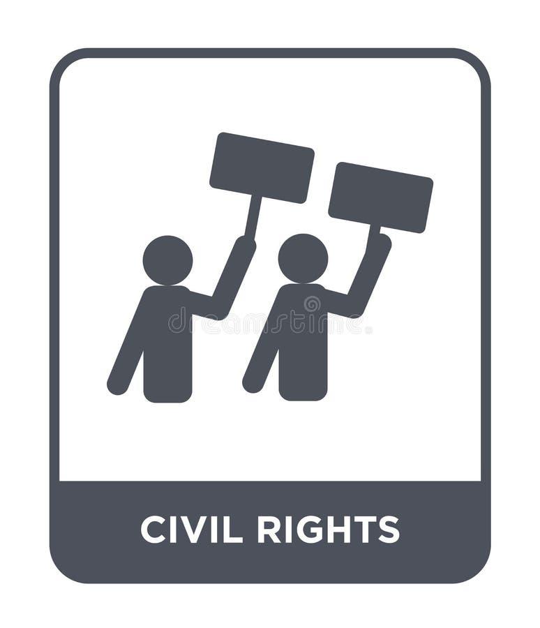 medborgerlig rättighetsymbol i moderiktig designstil medborgerlig rättighetsymbol som isoleras på vit bakgrund enkel medborgerlig stock illustrationer