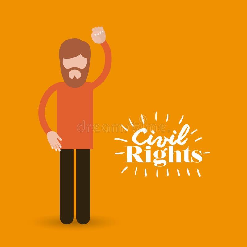 Medborgerliga rättigheter planlägger vektorillustrationen stock illustrationer