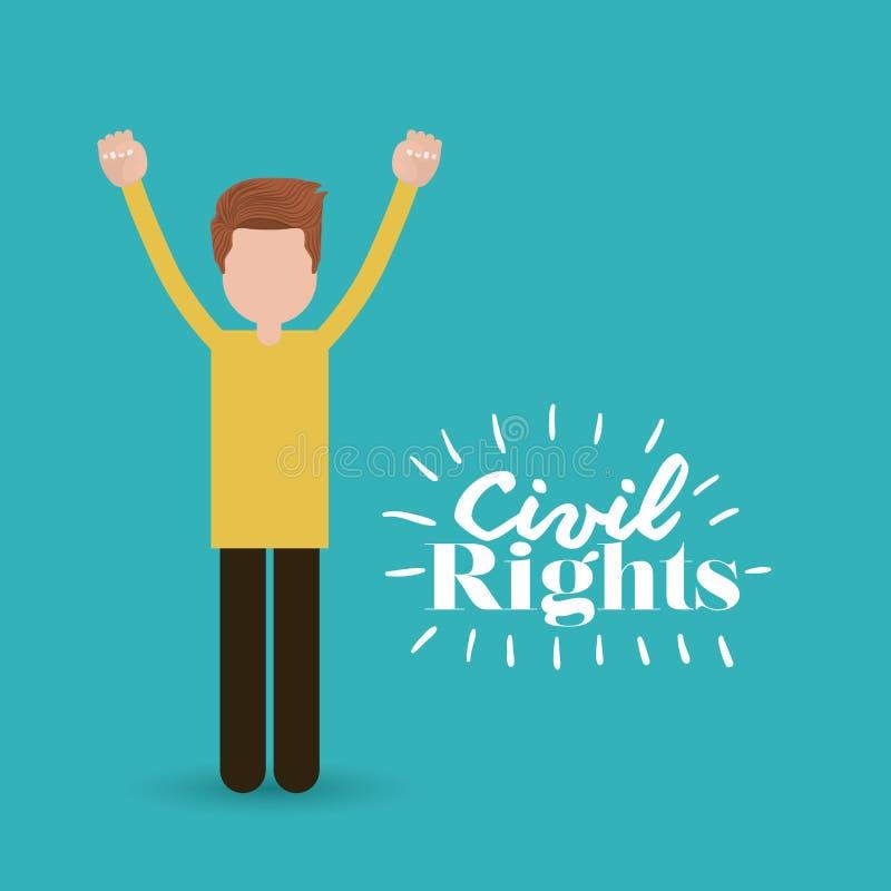 Medborgerliga rättigheter planlägger vektorillustrationen royaltyfri illustrationer