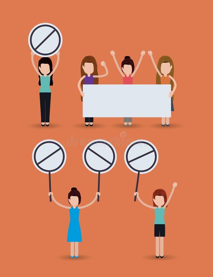Medborgerliga rättigheter planlägger vektorillustrationen vektor illustrationer