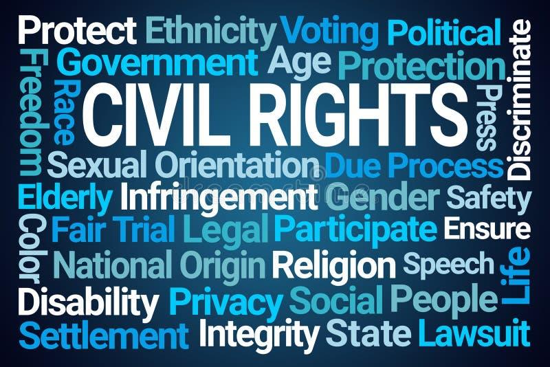 Medborgerliga rättigheter uttrycker molnet royaltyfri illustrationer