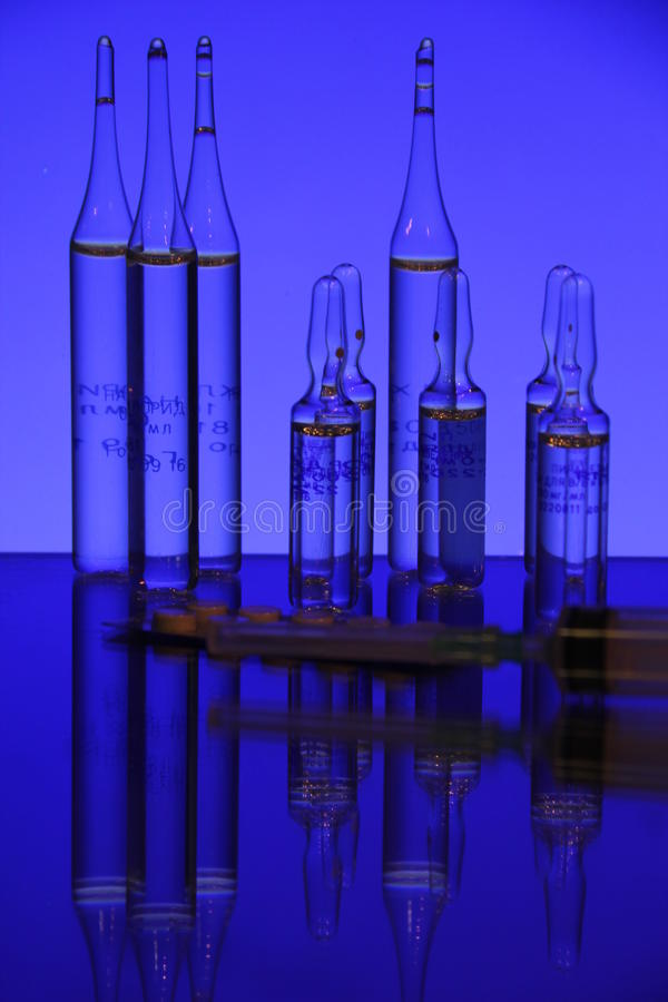 Medcine Ampules Stock Photos