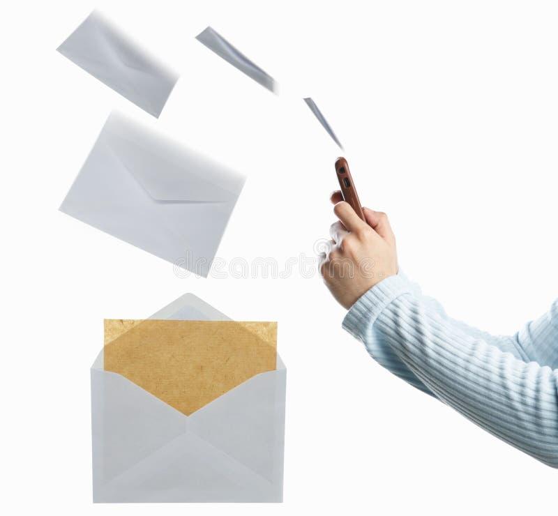 meddelandeöverföring arkivbild