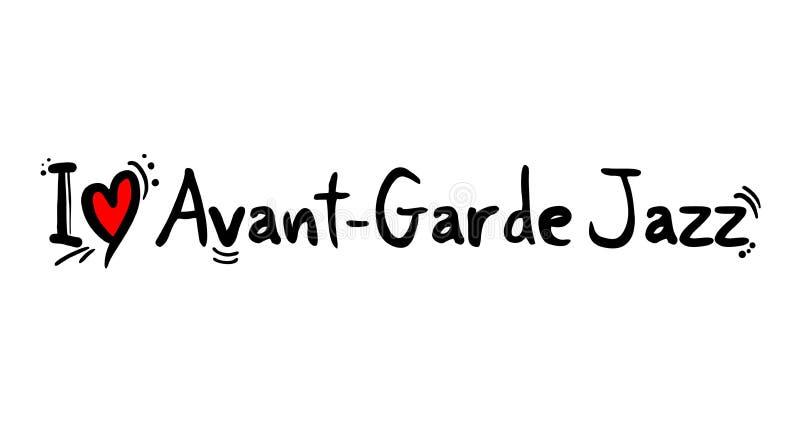 Meddelande för Avant garde jazzförälskelse royaltyfri illustrationer