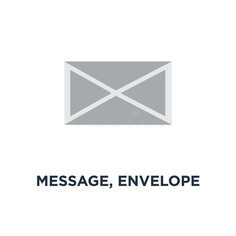 meddelande kuvertsymbol post överför design för bokstavsbegreppssymbol stock illustrationer