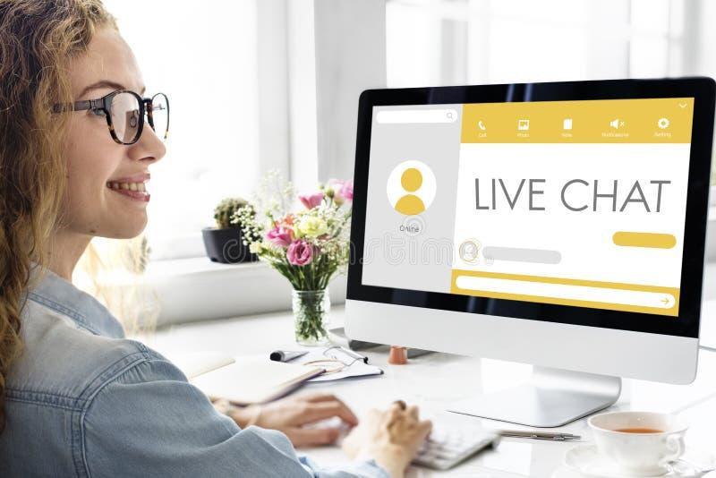 Meddelande Live Chat Communication Concept royaltyfria foton