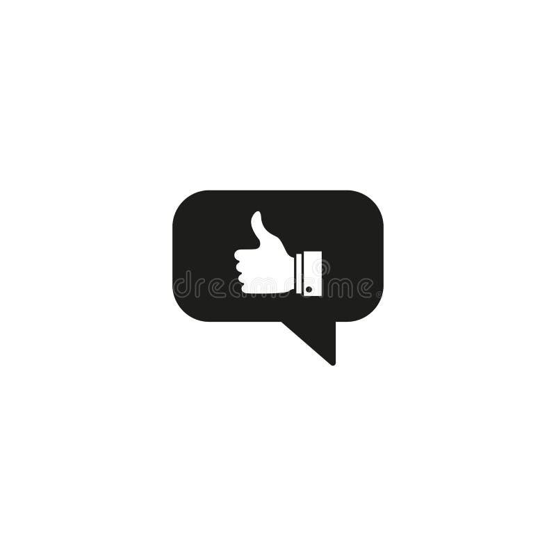 Meddelande med att instämma och bekräfta svarssymboler stock illustrationer