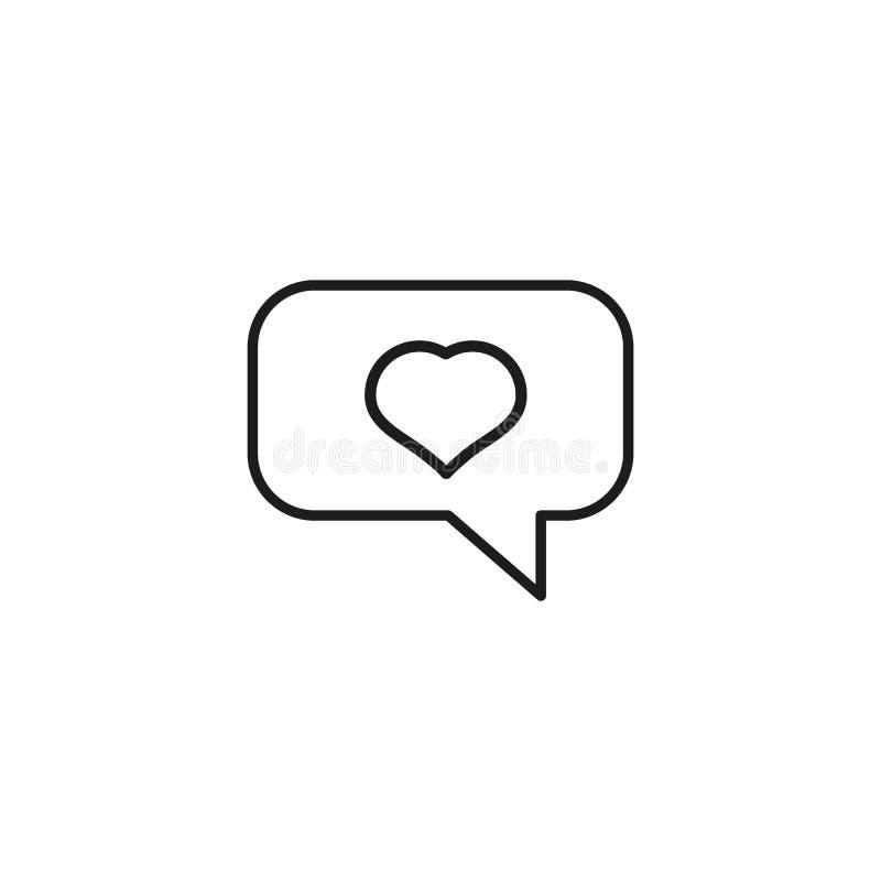 Meddelande om en förälskelseöversikt symbolen stock illustrationer