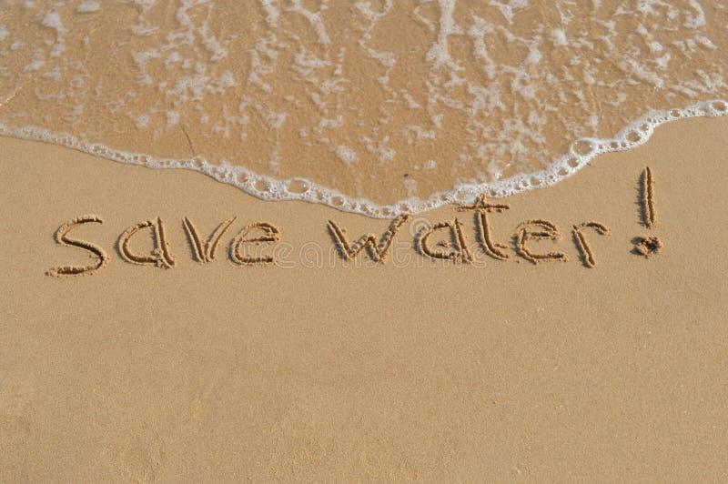 Meddelande 'räddningvatten', royaltyfria bilder