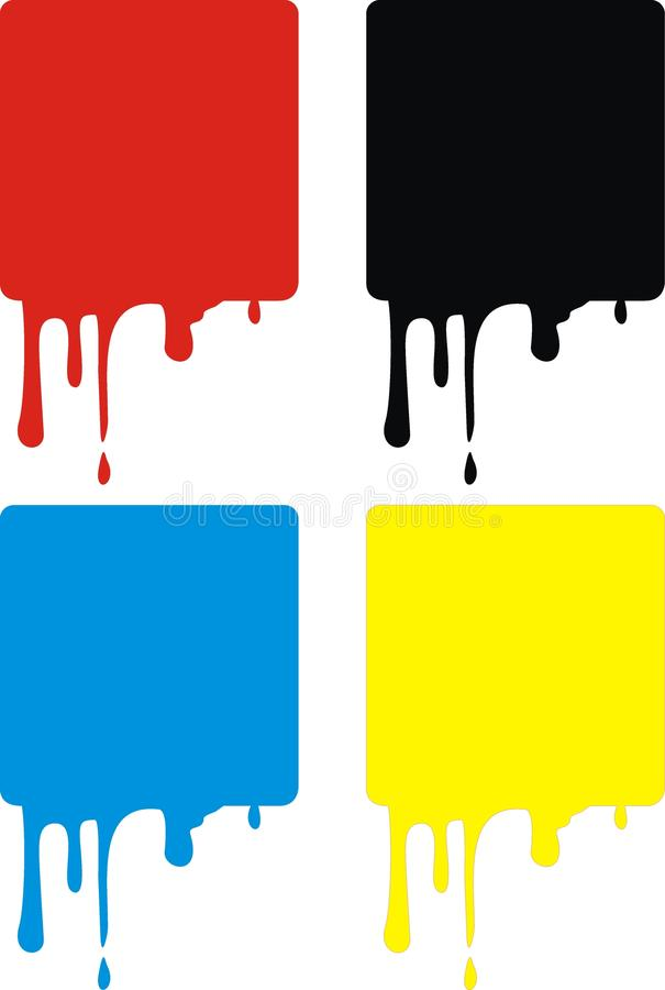 meddelandemålarfärgfläckar stock illustrationer