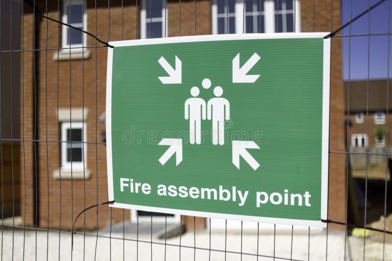 Meddelanden om hälsa och säkerhet på byggarbetsplatsen fotografering för bildbyråer