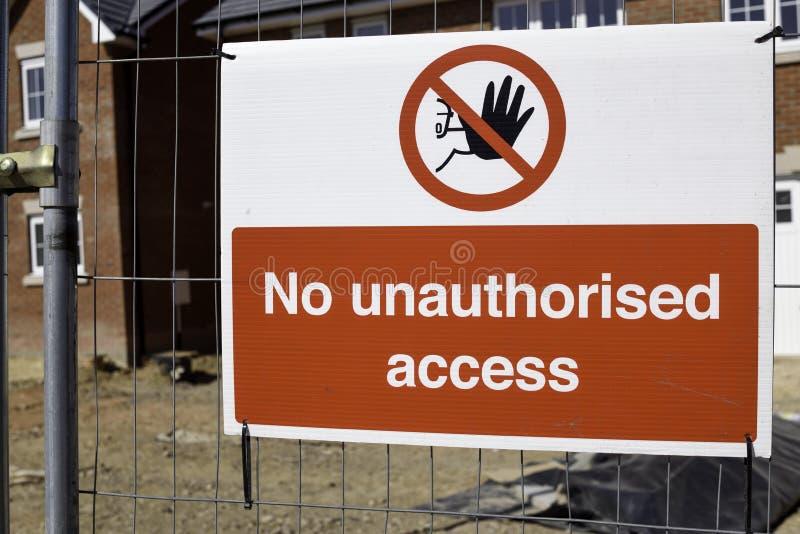 Meddelanden om hälsa och säkerhet på byggarbetsplatsen royaltyfri foto